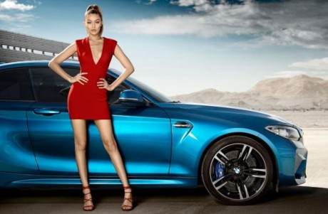 Gigi Hadid sets hearts racing in a sassy BMW ad campaign