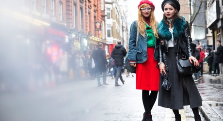 red-skirt-beret-and-black-jacket-skirt-beret-street-style