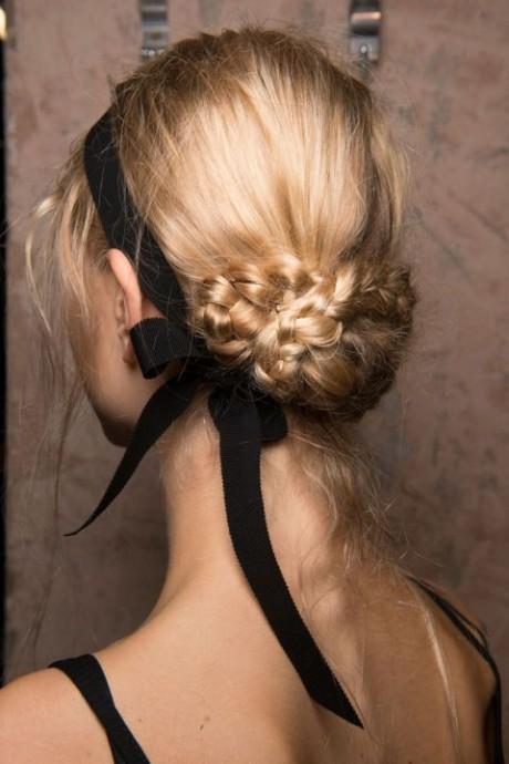 braided-bun-and-black-ribbon
