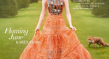Karen Elson Cover of UK Harper Bazaar